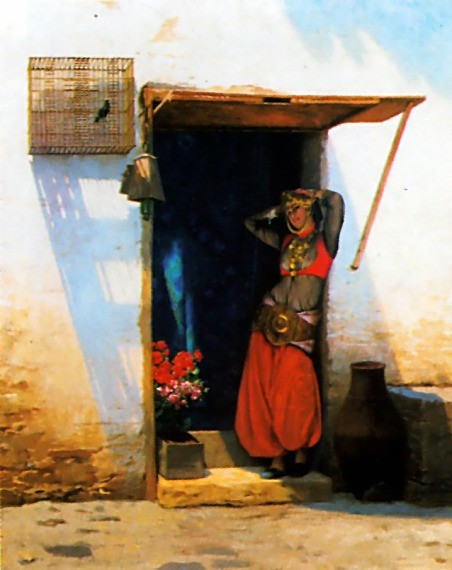 Woman of Cairo at her Door by Jean-Léon Gérôme