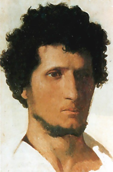 Head of a Peasant of the Roman Campagna by Jean-Léon Gérôme