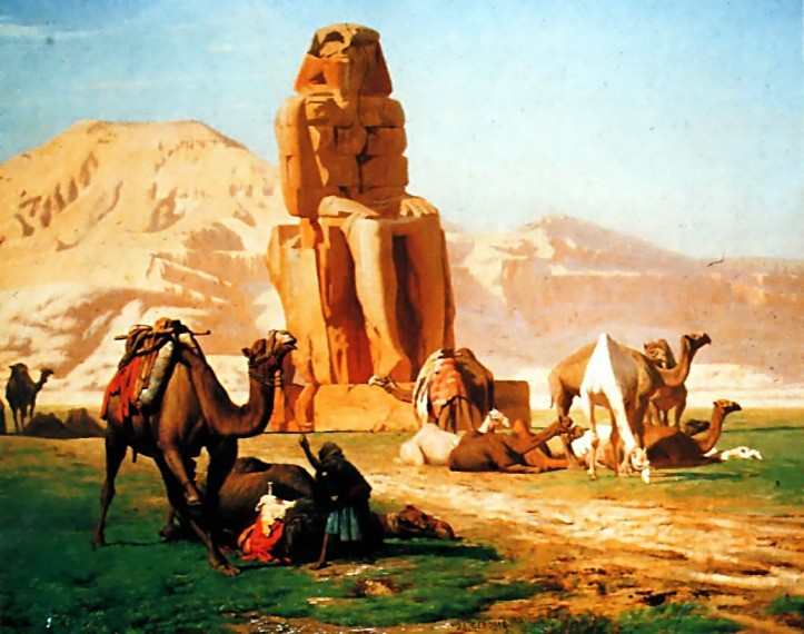 The Colossus of Memnon by Jean-Léon Gérôme