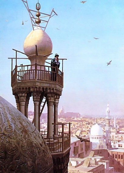 The Muezzins Call to Prayer by Jean-Léon Gérôme