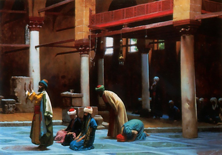 Prayer in the Mosque by Jean-Léon Gérôme