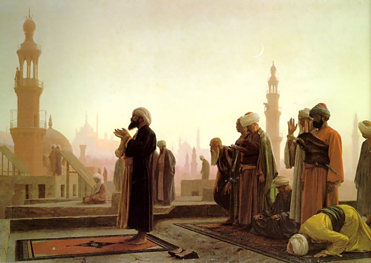 Prayer on the Housetops by Jean-Léon Gérôme