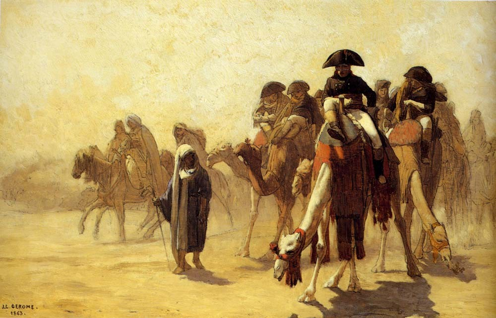 General Baonaparte With His Military Staff In Egypt by Jean-Léon Gérôme