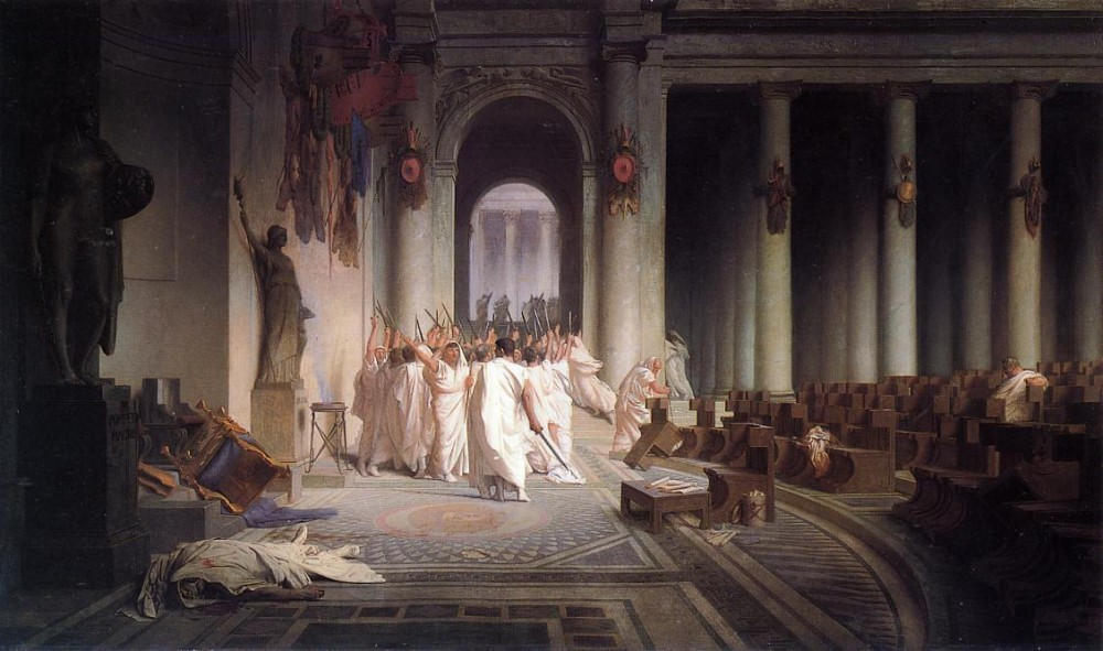 The Death of Caesar by Jean-Léon Gérôme