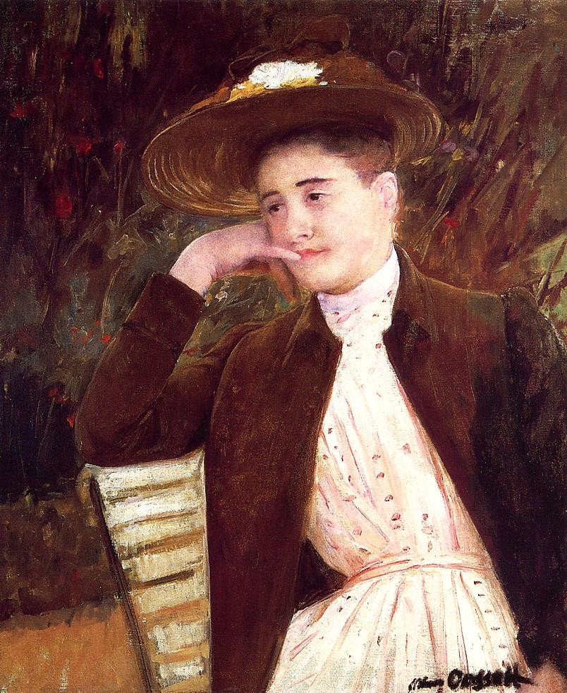 Celeste in a Brown Hat by Mary Stevenson Cassatt