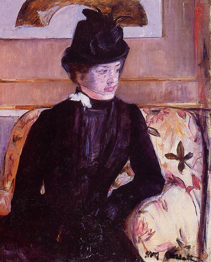 Mrs. Gardner Cassatt in Black by Mary Stevenson Cassatt