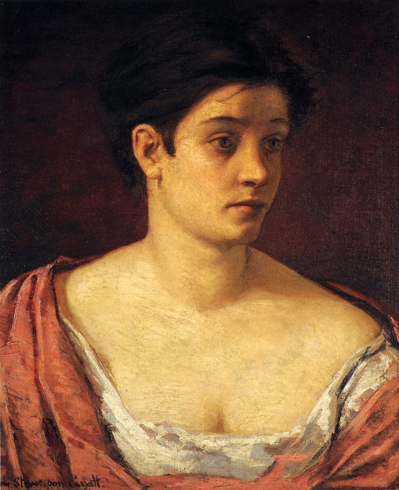 Portrait Of A Woman by Mary Stevenson Cassatt