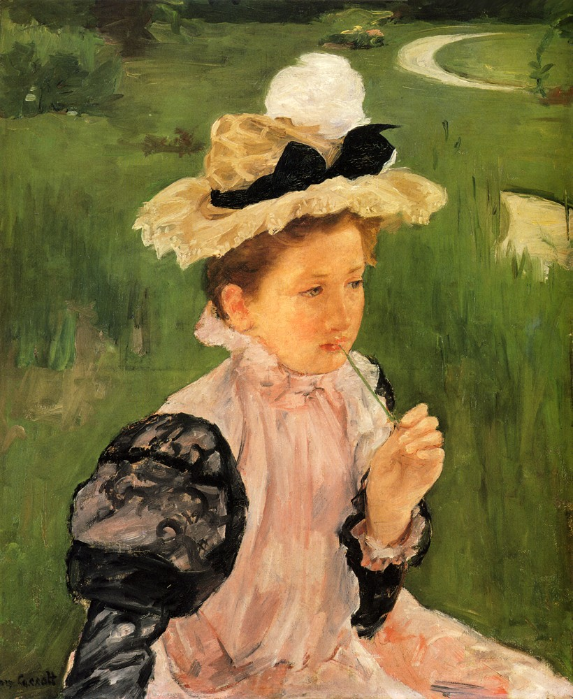 Portrait Of A Young Girl by Mary Stevenson Cassatt