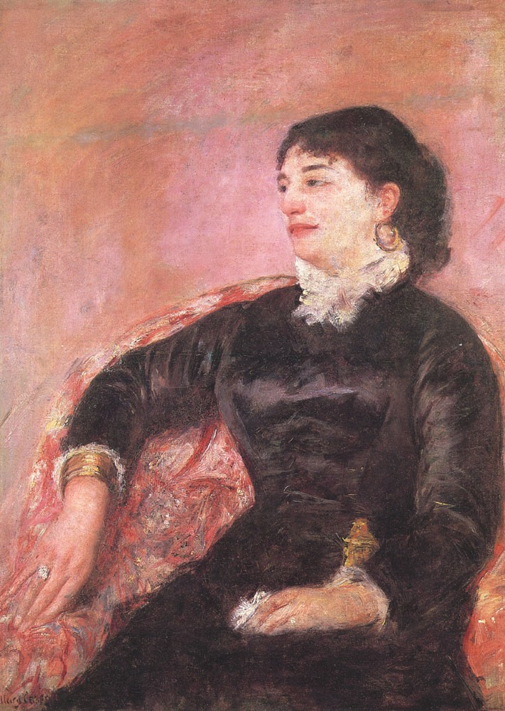 Portrait of an Italian Lady by Mary Stevenson Cassatt