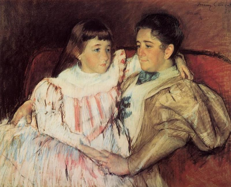 Portrait of Mrs Havemeyer and Her Daughter Electra by Mary Stevenson Cassatt