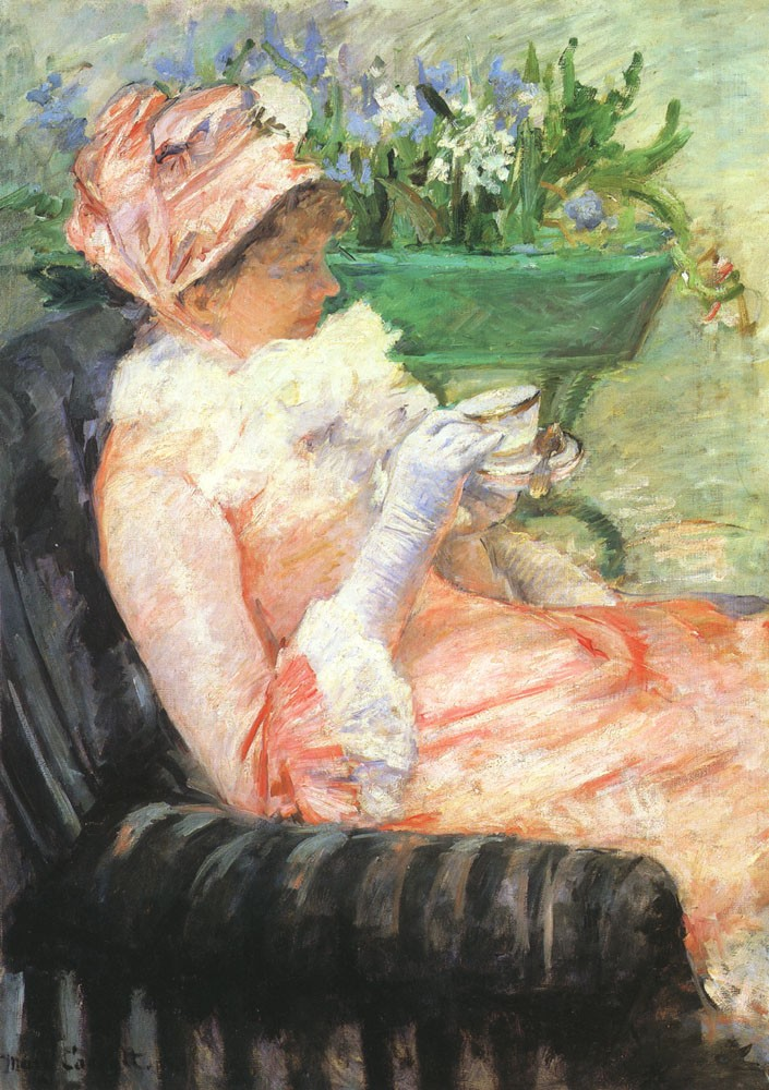 The Cup of Tea by Mary Stevenson Cassatt