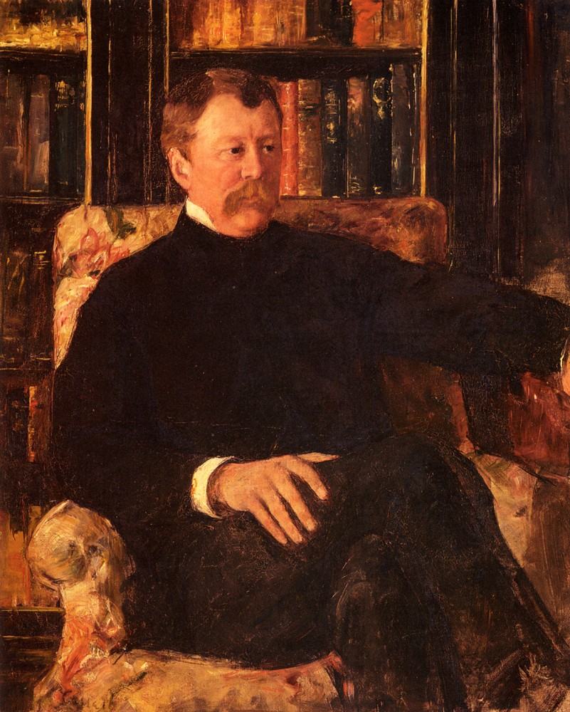 Portrait Of Alexander Cassatt by Mary Stevenson Cassatt