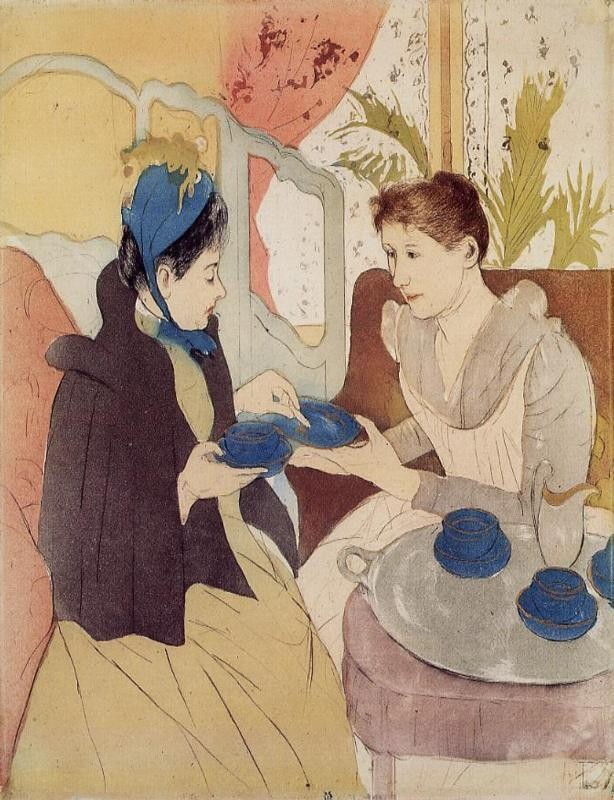 The Visit by Mary Stevenson Cassatt