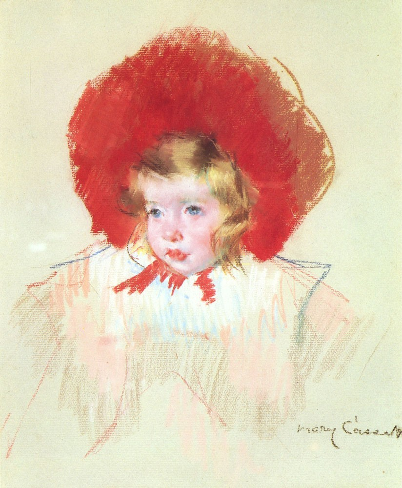 Child with a Red Hat by Mary Stevenson Cassatt