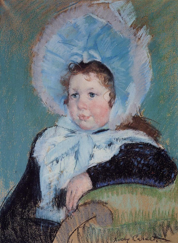 Dorothy in a Very Large Bonnet and a Dark Coat by Mary Stevenson Cassatt