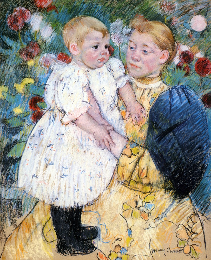 In The Garden by Mary Stevenson Cassatt
