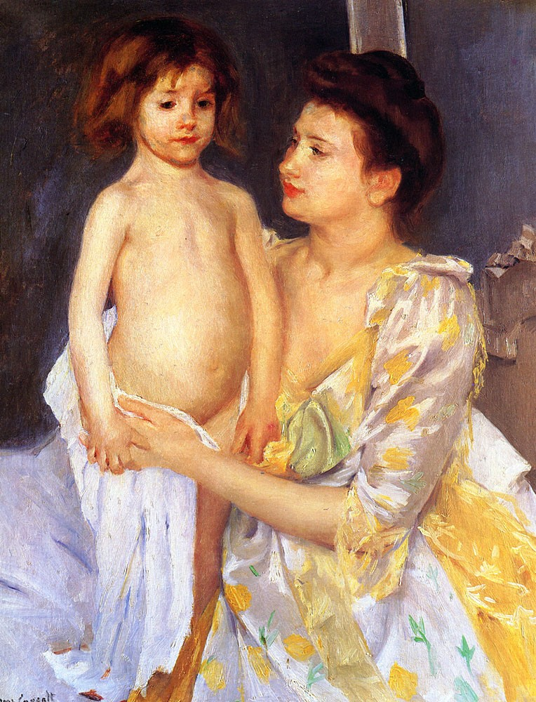 Jules Being Dried by His Mother by Mary Stevenson Cassatt