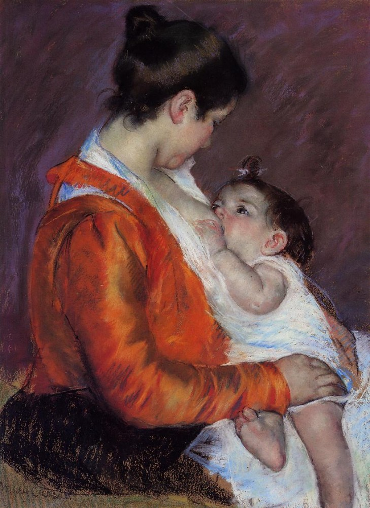 Louise Nursing Her Child by Mary Stevenson Cassatt