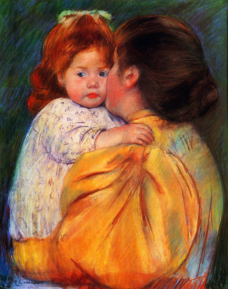 Maternal Kiss by Mary Stevenson Cassatt