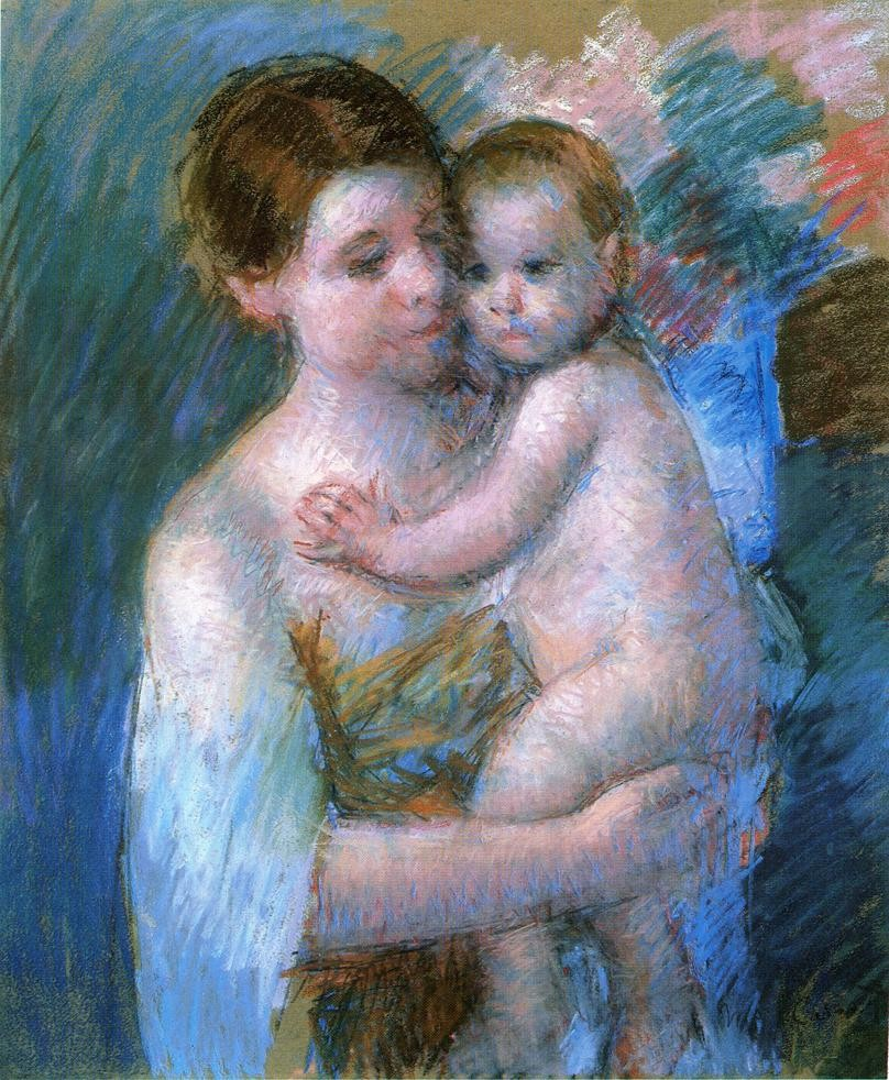 Mother Holding Her Baby by Mary Stevenson Cassatt