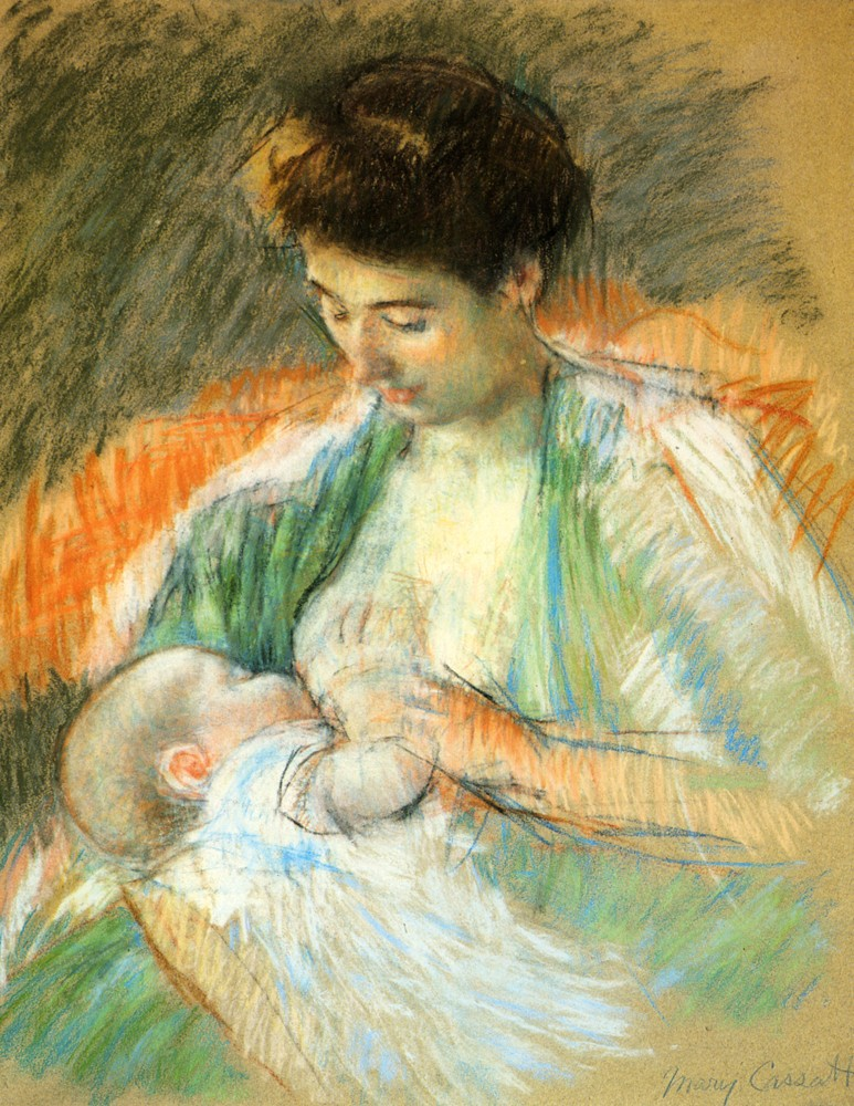Mother Rose Nursing Her Child by Mary Stevenson Cassatt