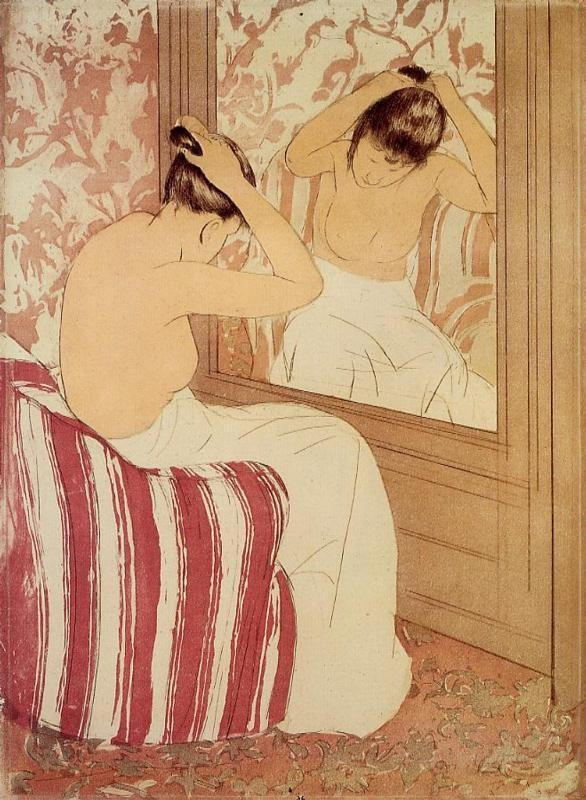 The Coiffure Study by Mary Stevenson Cassatt