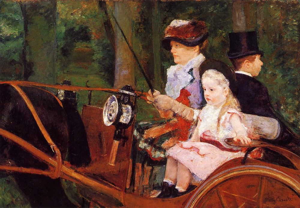 Woman and Child Driving by Mary Stevenson Cassatt