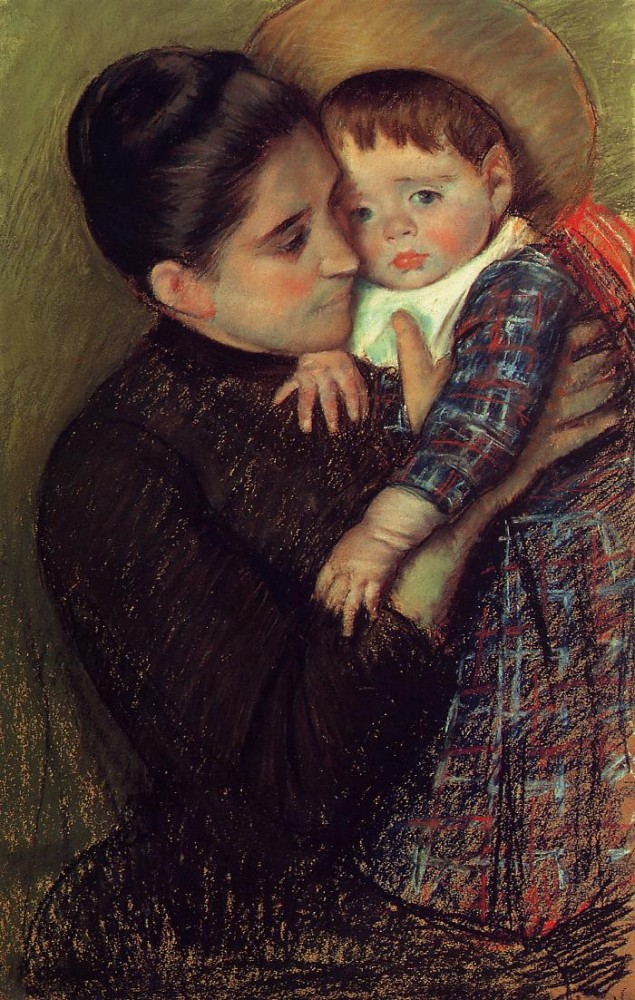 Woman and Her Child aka Helene de Septeuil by Mary Stevenson Cassatt