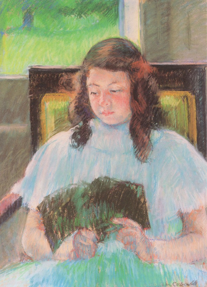 Young Girl Reading by Mary Stevenson Cassatt