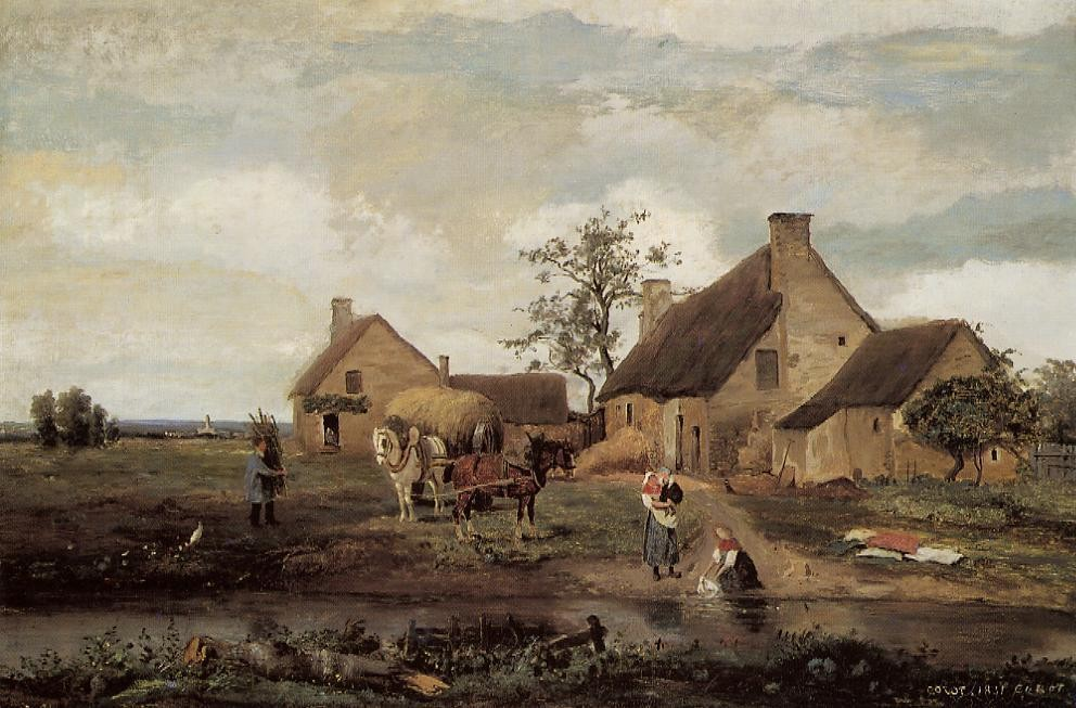A Farm in the Nievre by Jean-Baptiste-Camille Corot