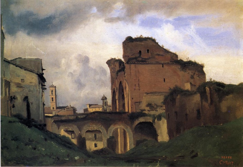 Basilica of Constantine by Jean-Baptiste-Camille Corot