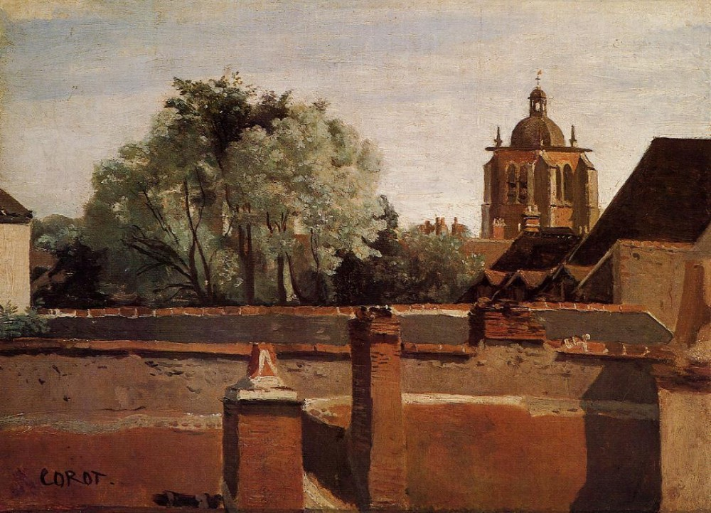 Bell Tower of the Church of Saint Paterne at Orleans by Jean-Baptiste-Camille Corot