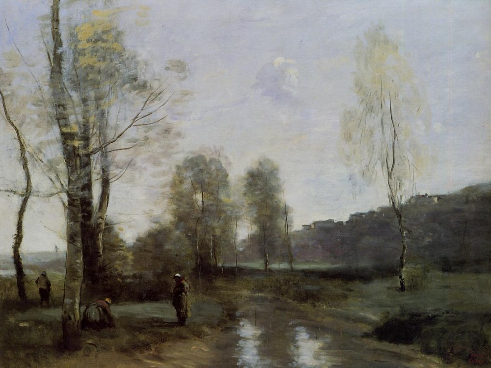 Canal in Picardi by Jean-Baptiste-Camille Corot