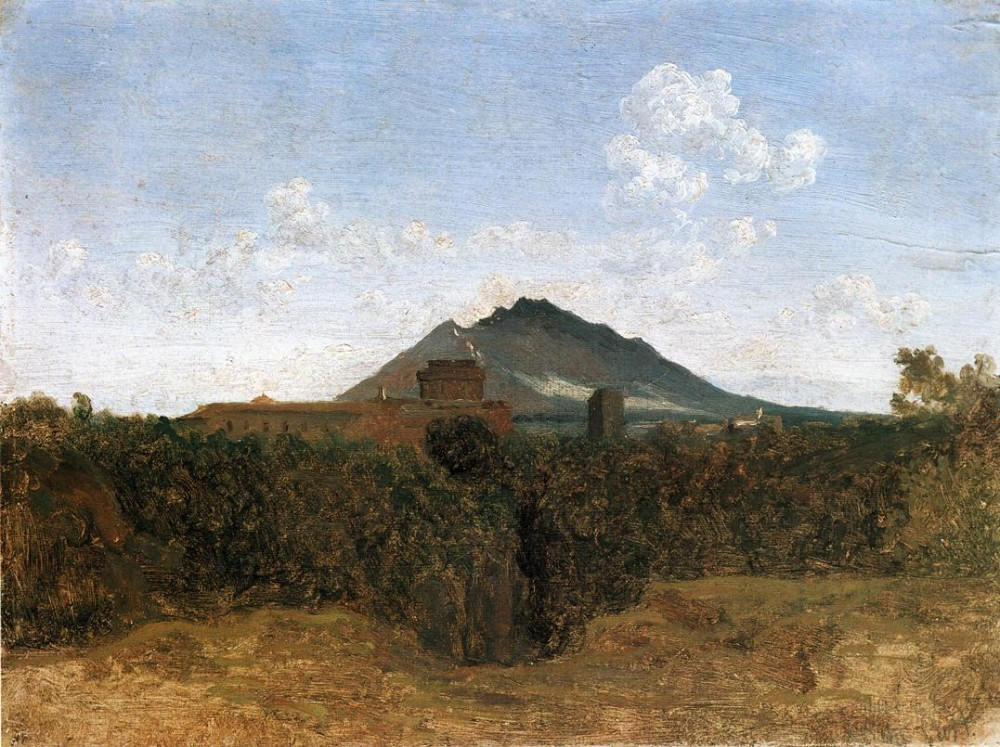 Civita Castellana and Mount Soracte by Jean-Baptiste-Camille Corot