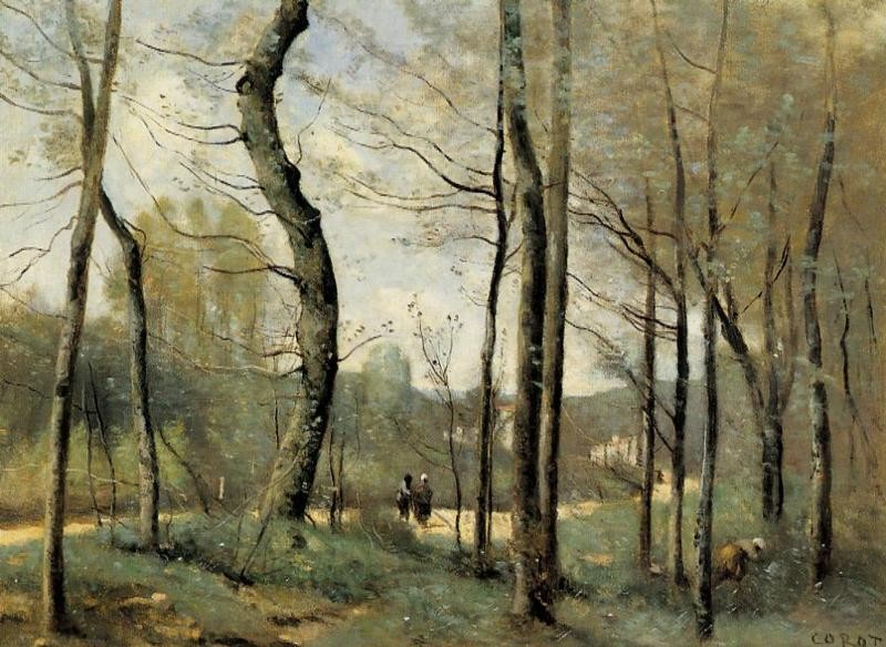 First Leaves near Nantes by Jean-Baptiste-Camille Corot