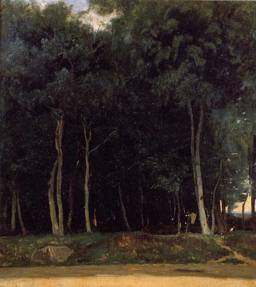 Fontainebleau the Bas Breau Road by Jean-Baptiste-Camille Corot