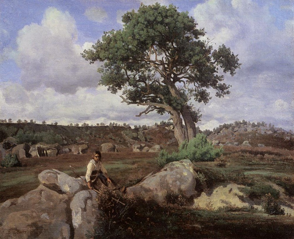 Fontainebleau The Raging One by Jean-Baptiste-Camille Corot