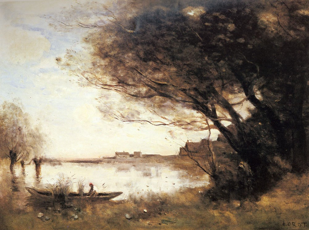 L Inondation by Jean-Baptiste-Camille Corot
