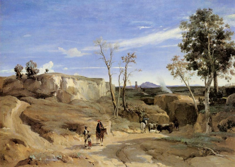 La Cervara the Roman Countryside by Jean-Baptiste-Camille Corot
