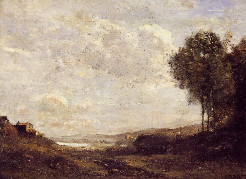 Landscape by the Lake by Jean-Baptiste-Camille Corot