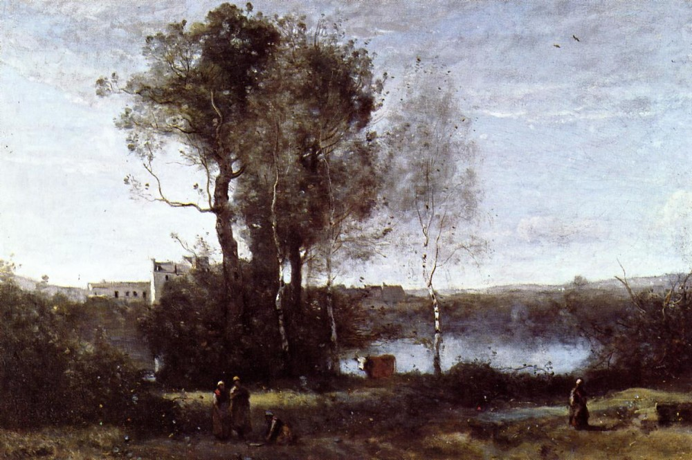 Large Sharecropping Farm by Jean-Baptiste-Camille Corot