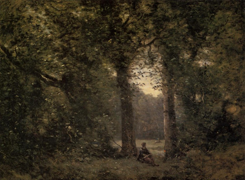 Souvenir of Ville d-Avray by Jean-Baptiste-Camille Corot