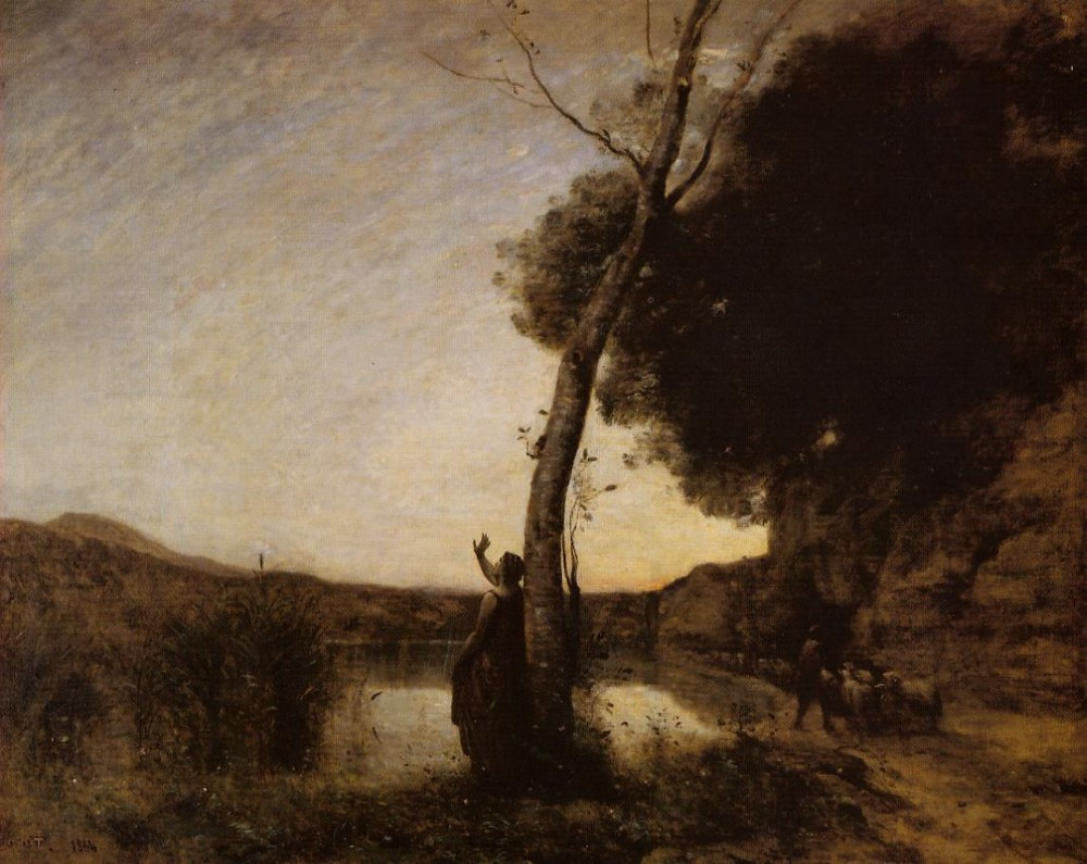 The Evening Star by Jean-Baptiste-Camille Corot