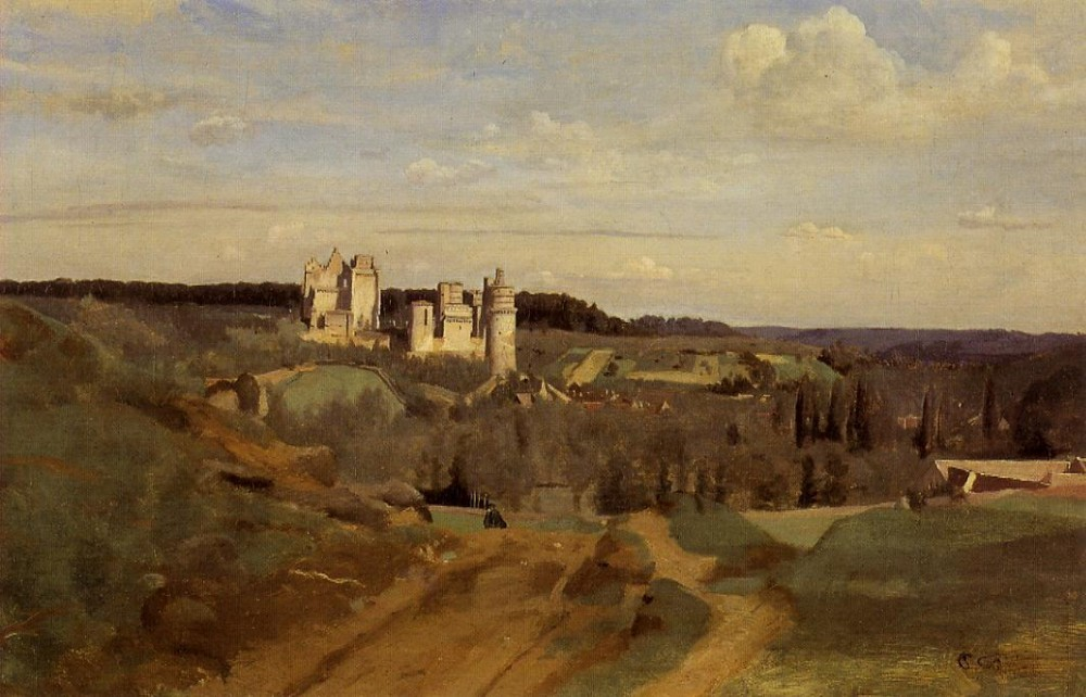 View of Pierrefonds by Jean-Baptiste-Camille Corot