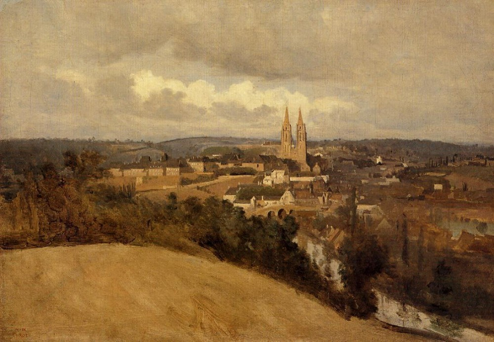 View of Saint Lo by Jean-Baptiste-Camille Corot