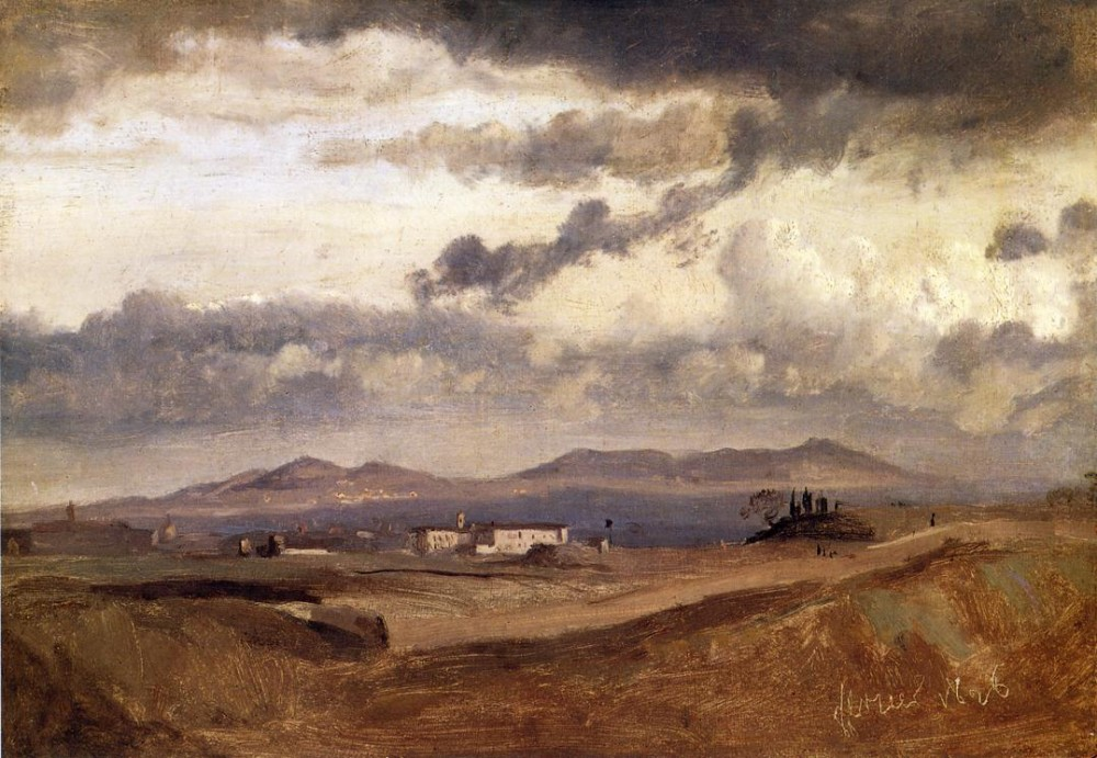 View of the Roman Campagna by Jean-Baptiste-Camille Corot