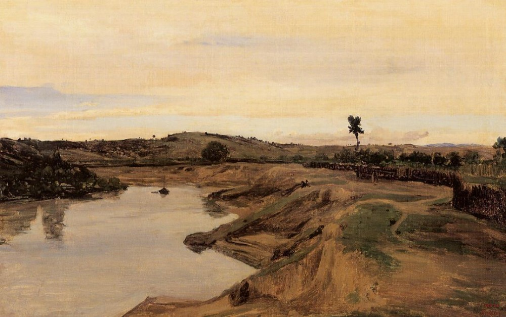 The Poussin Promenade aka Roman Campagna by Jean-Baptiste-Camille Corot