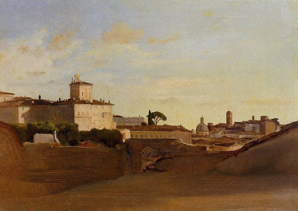 View of Pincio Italy by Jean-Baptiste-Camille Corot