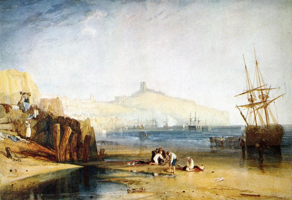 Scarborough Town and Castle Morning Boys Catching Crabs by Joseph Mallord William Turner
