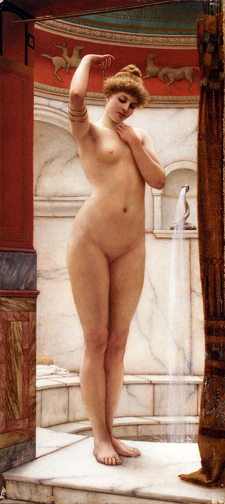A Pompeian Bath by John William Godward
